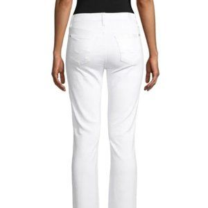 7 For All Mankind White Stretch Bootcut Jeans